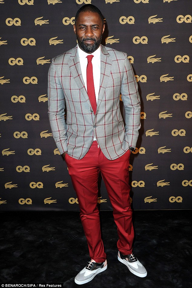 Idris Elba looking fab at the GQ Men Of The Year Awards