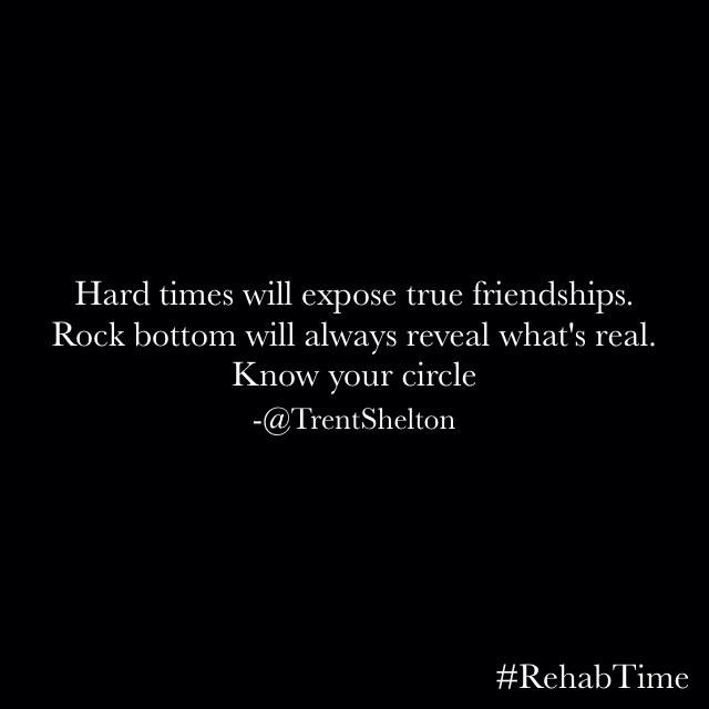 Know Who Your Real Friends Are In Hard Times