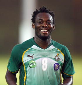 Michael Essien in surprise return for Black Stars against Zambia