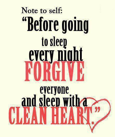 Forgive Others And Have A Clean Heart