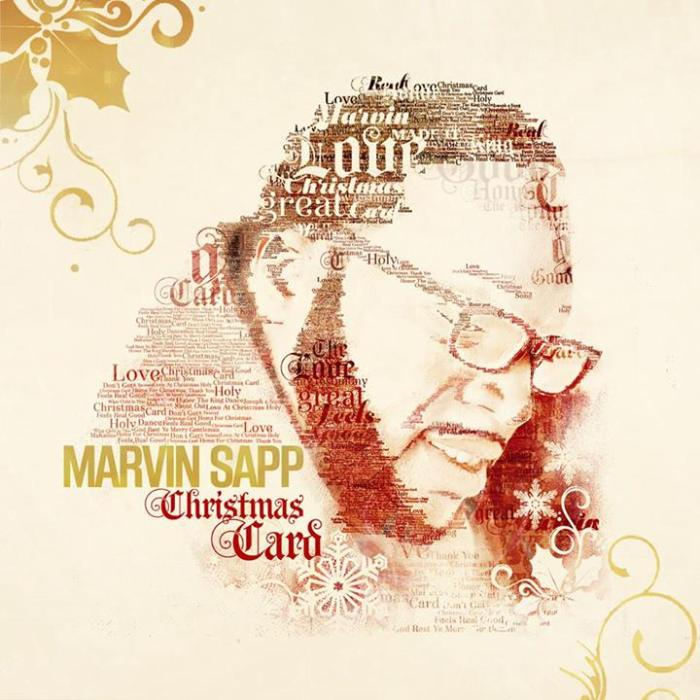 Marvin Sapp's Christmas Album Cover of 'Christmas Card'  Released