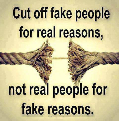 Cut Off Fake People For Reasons