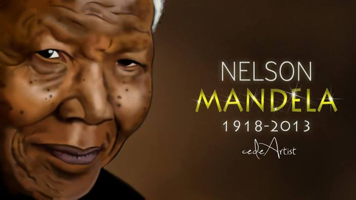 cedeArtist Pays Tribute To Nelson Mandela