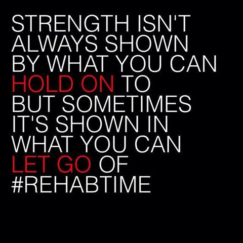 Strength Isn't Always Shown By What You Can Hold On To