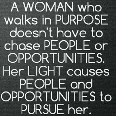 A Woman Who Walks In Purpose