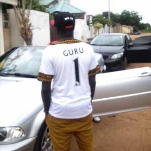 Guru wearing a jersey